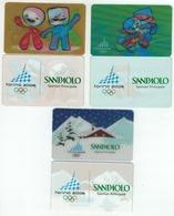 TORINO 2006 - BANCA SANPAOLO - 3 CARTE CON OLOGRAMMA PUBBLICITARIE - NELLA FOTO SI VEDE IL FRONTE E RETRO DELLE CARTE - Geldkarten (Ablauf Min. 10 Jahre)