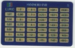 BANCA SANPAOLO - CONVERTITORE LIRE EURO - BENVENUTO EURO - RARO - Carte Di Credito (scadenza Min. 10 Anni)