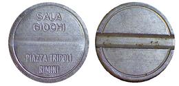 01417 GETTONE TOKEN JETON SALA GIOCHI AMUSEMENT RIMINI P.ZZA TRIPOLI - Italy
