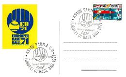ITALIA - 1971 PARMA Europei Di Baseball (Logo Con Guantone E Pallina) Su Cartolina Speciale Del Comitato Organizzatore - Baseball