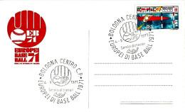 ITALIA - 1971 BOLOGNA Europei Di Baseball (Logo Con Guantone E Pallina) Su Cartolina Speciale Del Comitato Organizzatore - Baseball