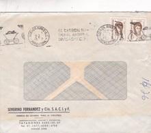 FRANCOVIG TRAVERSARO SAIC. STAMP A PAIR COMMERCIAL ENVELOPE CIRUCLEE BUENOS AIRES 1972 BANDELETA PARLANTE - BLEUP - Argentina