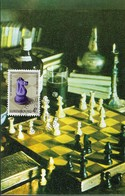 19.10.1981  -  LES ECHECS  -  MITROPA-CLUB LUXEMBOURG   Offset Neyval Remich   2 Scans - Cartes Maximum