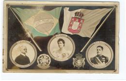 POSTCARDS-- POLITICOS- MONARQUIA- PRESIDENTE REPUBLICA BRASILEIRA E -RAINHA D. AMELIA E D. MANUEL II - Portugal