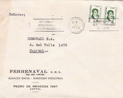 MARBY. SACIFIA. COMMERCIAL ENVELOPE CIRCULEE BUENOS AIRES 1975 - BLEUP - Storia Postale