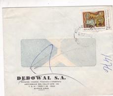 DEBOWAL SA-COMMERCIAL ENVELOPE CIRCULEE BUENOS AIRES 1975 - BLEUP - Argentina