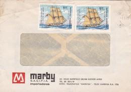 MARBY SACIFIA IMPORTADORES-COMMERCIAL ENVELOPE CIRCULEE BUENOS AIRES 1975 - BLEUP - Argentina