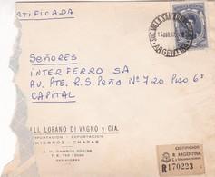 ENVELOPE CIRCULEE BUENOS AIRES 1967 RECOMMANDE SOLD AS IS - BLEUP - Argentina