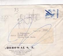 SEBOWAL SA COMMERCIAL ENVELOPPE CIRCULEE 1972 BUENOS AIRES FULL CONTENT INSIDE BANDELETA PARLANTE - BLEUP - Argentina