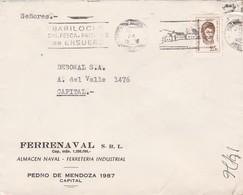 FERRENAVAL SRL- ENVELOPPE CIRCULEE BUENOS AIRES 1972 BANDELETA PARLANTE: BARILOCHE, SKI PESCA PAISAJES DE ENSUEÑ - BLEUP - Argentina
