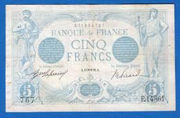 5  Fr  Bleu  1916   Alph  14810 - 1871-1952 Circulated During XXth