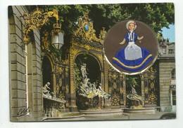 CPSM Carte Brodée Minidoll - Poupée Lorraine En Médaillon - 54 Nancy  Porte Stanislas - Estel écrite - Borduurwerk