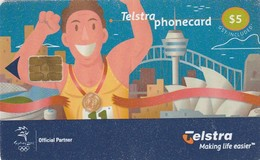 TARJETA TELEFONICA DE AUSTRALIA, Olympic Sydney (Exp.08/2002). AUS-CN-00009. (032) - Jeux Olympiques