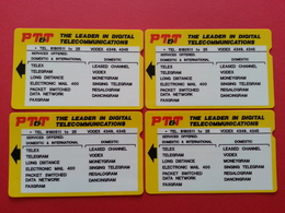 Philippines - 4 PTT Alcatel Test Card - 500 1000 2000 3000 P Trial Field RRR (CB1217 - Philippines