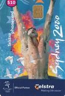 TARJETA TELEFONICA DE AUSTRALIA, Sydney 2000 - Swimmer (Exp.04/2002). AUS-CN-00004. (031) - Jeux Olympiques