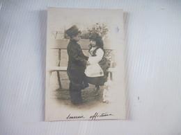 CPA GARCON ET FILLE 1903 De MONTBRISON - Groupes D'enfants & Familles