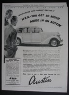 ORIGINAL 1938 MAGAZINE  ADVERT FOR AUSTIN GOODWOOD FOURTEEN SALOON CAR - Other