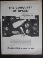 ORIGINAL1958 MAGAZINE ADVERT FOR  GUINNESS . THE CONQUEST OF SPACE - Other
