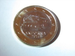1 Euro Andorra 2014 UNC From Coin Roll - Andorra