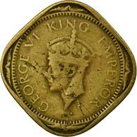 Monnaie, INDIA-BRITISH, George VI, 2 Annas, 1943, TB+, Nickel-brass, KM:541a - Inde
