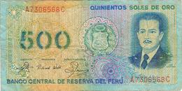 PERÚ- 500 SOLES DE ORO - 1982. - Peru