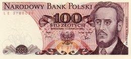 POLAND=1982    100  ZLOTYCH     P-143      UNC - Pologne