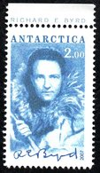 Antarctica Post Blue Richard Byrd Signature Stamp - New Zealand