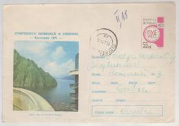POSTAL STATIONERY ROMANIA 1971, World CONFERENCE OF ENERGY,THE LAKE OF ACCUMULATION IN ARGES COUNTY - 1948-.... Républiques