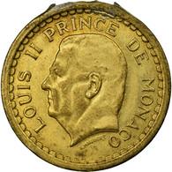 Monnaie, Monaco, Louis II, 2 Francs, Undated (1943), TB+, Aluminium - Monaco