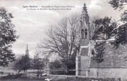 29 - Moelan  - Ensemble De L Eglise Saint Philibert - Le Clocher De Moellan - La Fontaine Saint Roch - Moëlan-sur-Mer