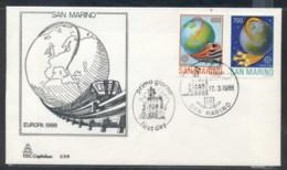 San Marino 1988 Europa Transport & Communication FDC - FDC