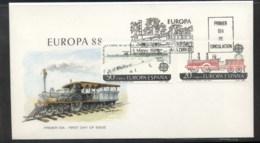 Spain 1988 Europa Transport & Communication FDC - FDC