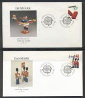 Denmark 1989 Europa Children's Play 2x FDC - FDC