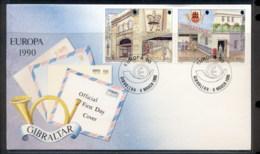 Gibraltar 1990 Europa Post Offices FDC - Gibraltar