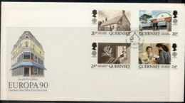 Guernsey 1990 Europa Post Offices FDC - Guernsey