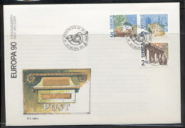 Sweden 1990 Europa Post Offices FDC - FDC