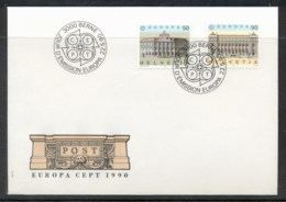 Switzerland 1990 Europa Post Offices FDC - FDC