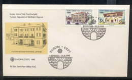 Cyprus Turkish 1990 Europa Post Offices FDC - Cyprus (Turkey)