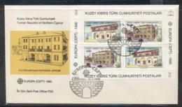Cyprus Turkish 1990 Europa Post Offices MS FDC - Cyprus (Turkey)