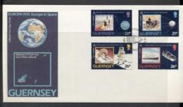 Guernsey 1991 Europa Man In Space FDC - Guernsey