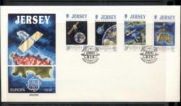Jersey 1991 Europa Man In Space FDC - Jersey