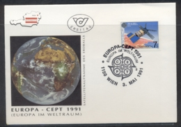 Austria 1991 Europa Man In Space FDC - FDC