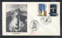 San Marino 1991 Europa Man In Space FDC - FDC