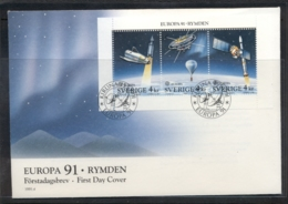 Sweden 1991 Europa Man In Space MS FDC - FDC