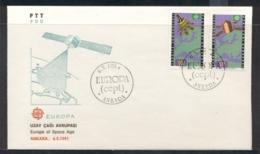 Turkey 1991 Europa Man In Space FDC - 1921-... Republic