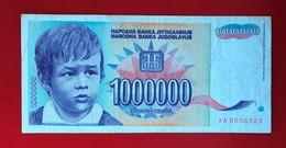 YUGOSLAVIA  1,000,000  DINARS 1993 - Yugoslavia