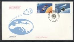Cyprus 1991 Europa Man In Space FDC - Cyprus (Republic)
