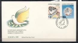 Cyprus 1995 Europa Peace & Freedom FDC - Cyprus (Republic)