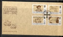 Guernsey 1992 Europa Columbus Discovery Of America FDC - Guernsey