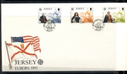 Jersey 1992 Europa Columbus Discovery Of America FDC - Jersey